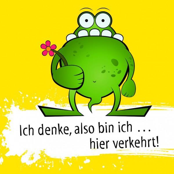 Frosch - Ich denke also bin ich... (Kühlschrankmagnet)