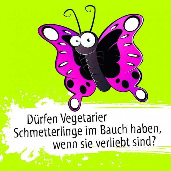 Schmetterling - Dürfern Vegetarier Schmetterlinge im Bauch.. (Kühlschrankmagnet)