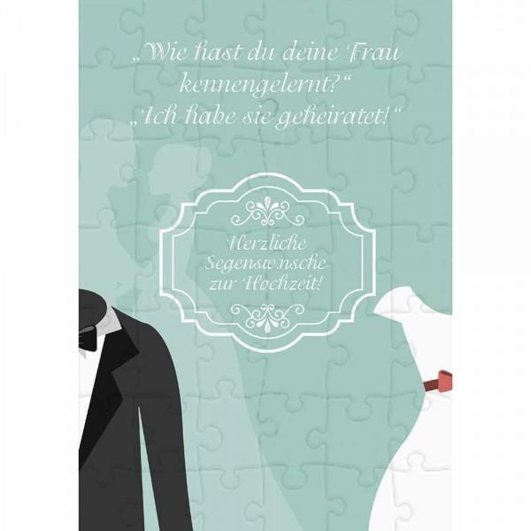 Herzliche Segenswünsche zu Hochzeit (Puzzle-Karte)