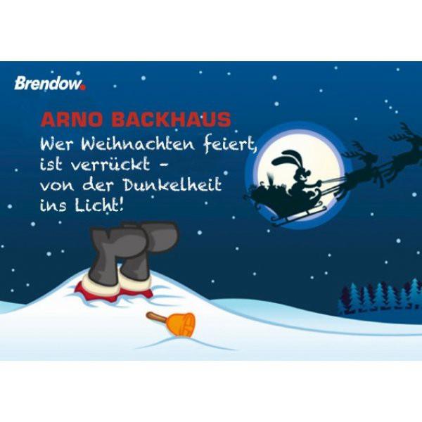 Wer Weihnachten feiert, ist verrückt (10er Postkartenset)